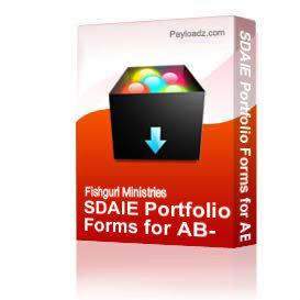 SDAIE Portfolio Forms for AB-2913 Classes | Other Files | Documents and Forms
