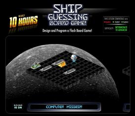 ship guessing board game
