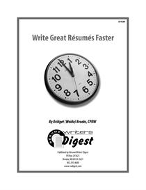 Write Great Resumes Faster (Previous Buyer) | eBooks | Business and Money