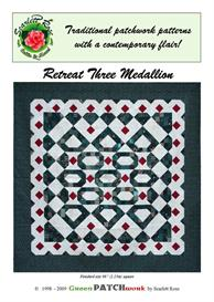 Retreat Three Medallion pieced quilt pattern | Crafting | Sewing | Quilting