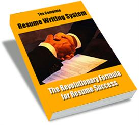 Resume Writing System | eBooks | Business and Money