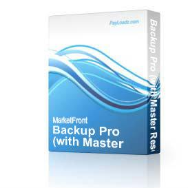 Backup Pro (with Master Resell Rights) | Software | Utilities