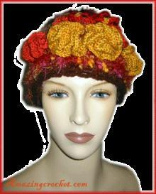 freeform fall hat crochet pattern