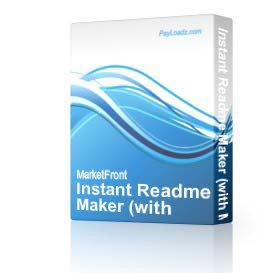 Instant Readme Maker (with Master Resell Rights! Just Released!) | Software | Developer