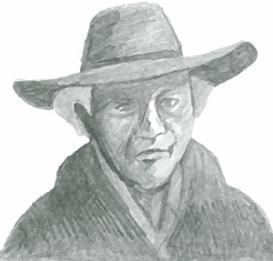 Old cowboy - psd | Other Files | Clip Art
