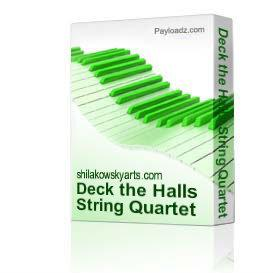 Deck the Halls String Quartet with vocal & piano | eBooks | Sheet Music