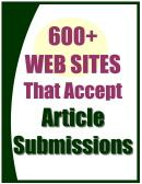 Special Report: 600+ Websites That Accept Article Submissions | eBooks | Business and Money