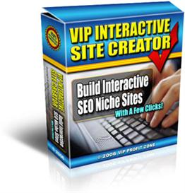 VIP Interactive Site Creator | Software | Design
