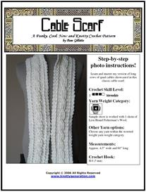 cable scarf crochet pattern