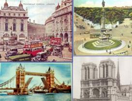 London, New York, Paris - Old Postcards Views - Vintage Capital Screen | Software | Screensavers