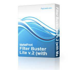 Filter Buster Lite v.2 (with Master Resell Rights!) | Software | Internet