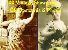 Vintage Music Hall Showgirls - Old Photo and Postcard Album | eBooks | Entertainment