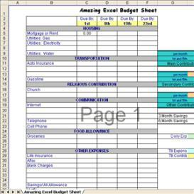 Amazing Excel Budget Sheet | Software | Home and Desktop