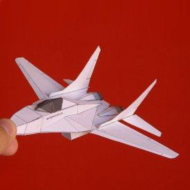 Paper Mig-29 White | Crafting | Paper Crafting | Paper Models