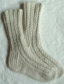 Toe-to-Cuff Lace Rib Socks knitting pattern - PDF | Other Files | Arts and Crafts