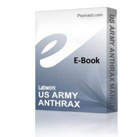 US ARMY ANTHRAX MANUAL bluebook | eBooks | Reference