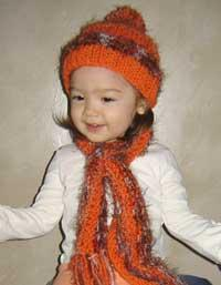 #54 Sweet Baby Hat and Scarf PDF Pattern from SweaterBabe.com | Other Files | Arts and Crafts