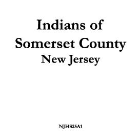 Indians of Somerset County | eBooks | History