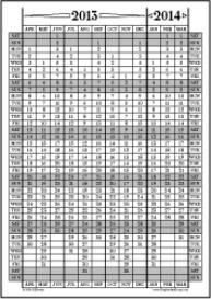 Apr13-Mar14: April-March Calendar, Fiscal Year, & Academic Year Calend | Other Files | Documents and Forms