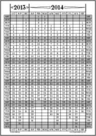 Oct13-Sep14: October-September Calendar, Fiscal Year, & Academic Year | Other Files | Documents and Forms