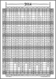 Jan14-Dec14: January-December Calendar, Fiscal Year, & Academic Year C | Other Files | Documents and Forms