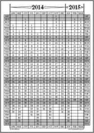 Apr14-Mar15: April-March Calendar, Fiscal Year, & Academic Year Calend | Other Files | Documents and Forms