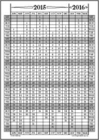 Apr15-Mar16: April-March Calendar, Fiscal Year, & Academic Year Calend | Other Files | Documents and Forms