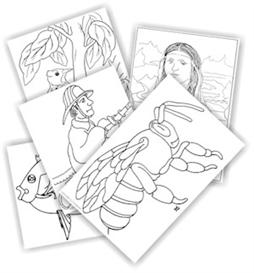 kinderart e-coloring pages: volume 1 images: variety