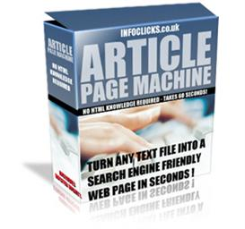 Article Page Machine-Turn Text into Search Engine-Resel | Software | Business | Other