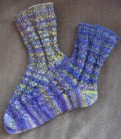 funky zebra socks: toe up knitting pattern