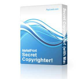 Secret Copyrighter! (with Master Resell Rights!) (Just Released! 2/15/2004!) | Software | Utilities