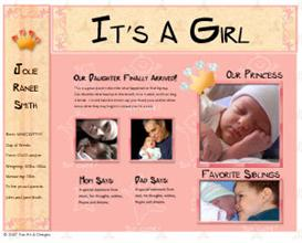 it's a girl - web template