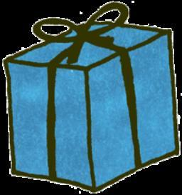 Blue gift box - psd | Other Files | Clip Art