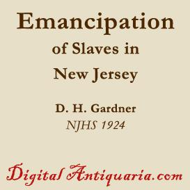 emancipation of slaves in new jersey