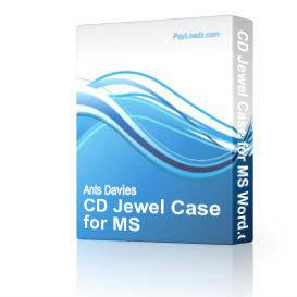 CD Jewel Case for MS Word.doc | Software | Design Templates