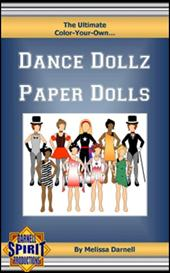 the ultimate color-your-own dance dollz paper dolls