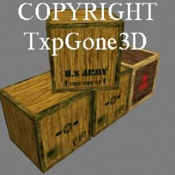 TxpGone3D Crates | Software | Games
