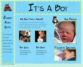 It's a Boy - Web Template | Other Files | Patterns and Templates