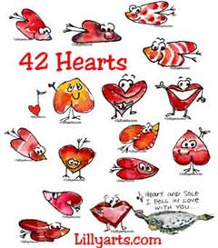 42 Cartoon Hearts n Valentine Silly Love Drawings