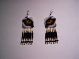 Brick Stitch Wolf Eye Delica Seed Beading Earring Pattern | Other Files | Arts and Crafts