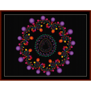 Fractal 214 cross stitch pattern by Cross Stitch Collectibles | Crafting | Cross-Stitch | Wall Hangings