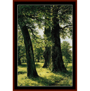 Oaks - Shishkin cross stitch pattern by Cross Stitch Collectibles | Crafting | Cross-Stitch | Wall Hangings