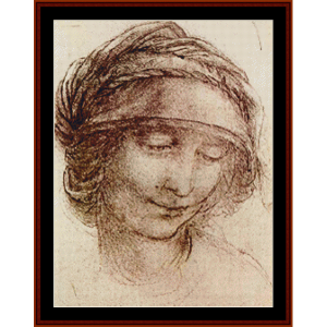 Study of a Woman - DaVinci cross stitch pattern by Cross Stitch Collectibles | Crafting | Cross-Stitch | Wall Hangings