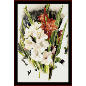 Gladiolus - Demuth cross stitch pattern by Cross Stitch Collectibles | Crafting | Cross-Stitch | Wall Hangings