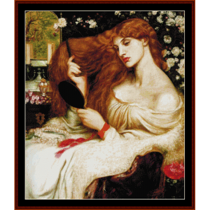 Lady Lilith - Dante Rossetti cross stitch pattern by Cross Stitch Collectibles | Crafting | Cross-Stitch | Wall Hangings