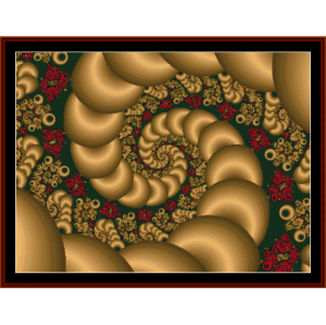 fractal 101 cross stitch pattern by cross stitch collectibles
