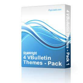 4 VBulletin Themes - Pack #1 | Software | Design Templates