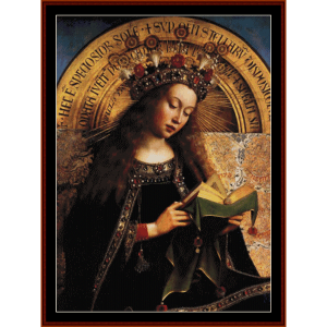 Virgin Mary - van Eyk cross stitch pattern by Cross Stitch Collectibles | Crafting | Cross-Stitch | Wall Hangings