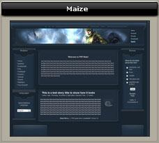 maize theme for PHP-Nuke | Software | Design Templates
