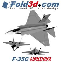 Fold3D F-35C Lightning II | eBooks | Arts and Crafts
